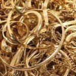 gold metal scrap